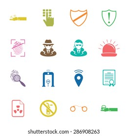 Vector illustration of security set icon
