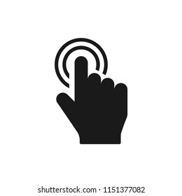 vector illustration of select icon. click, press symbol. finger press, finger click, hand click symbol isolated for web and mobile app on white background
