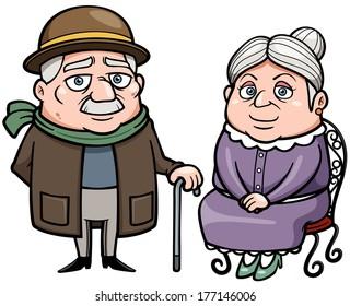 Vector illustration of Senior couple