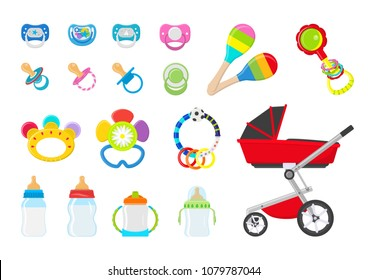 Vector illustration. Set for baby.