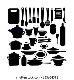 Vector illustration set  cooking battery vector. kitchen doodles. For backgrounds, web design, design elements,   prints, covers
