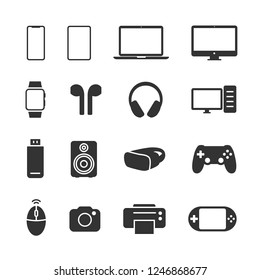 Vector illustration set device icons.