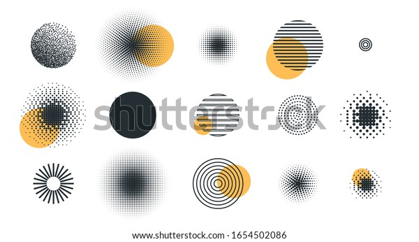 vector illustration. set of different circle geometry design. circle of different shapes for design creative