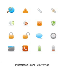 Vector illustration ? set of elegant  simple icons for common computer functions