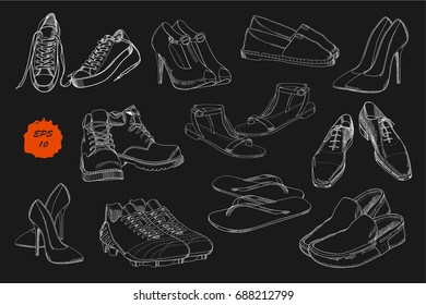 415576b81adbc Drawing Shoes Images, Stock Photos & Vectors | Shutterstock
