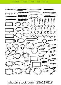 Vector illustration of Set include markers elements