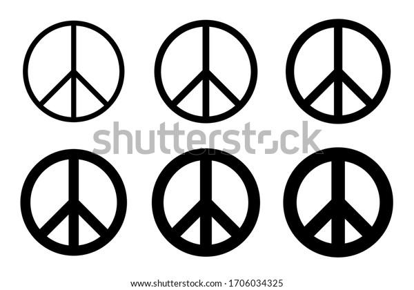 Vector illustration set of peace mark.