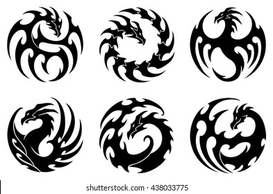Dragon tribal tattoos pictures