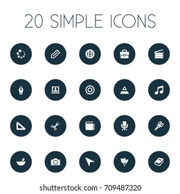 Vector Illustration Set Of Simple Design Icons. Elements Account, Pointer, Meal And Other Synonyms Catalog, Hierarchy And Action.