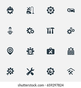 Vector Illustration Set Of Simple  Icons. Elements Car Service, Maintenance, Repairman And Other Synonyms Car, Service And Toolkit.