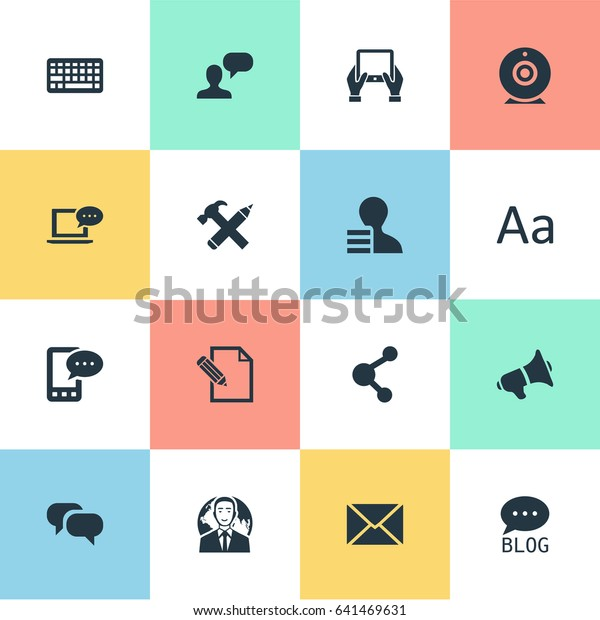 Vector Illustration Set Simple Newspaper Icons Stock Vector (Royalty
