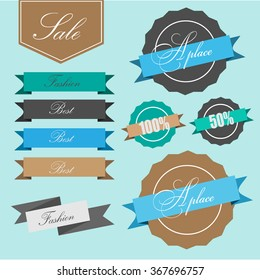 Vector illustration set of stickers