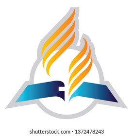 Vector illustration of a Seventh-Day Adventist Church on a white background