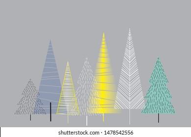 Scandi Christmas Tree Drawing.Scandinavian Images Stock Photos Vectors Shutterstock