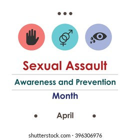 vector illustration / sexual assault awareness and prevention month
