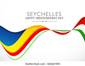Vector illustration of seychelles independence day.
