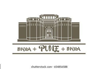 Vector illustration of Shaniwar wada icon