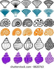 vector illustration for shell pattern design element.