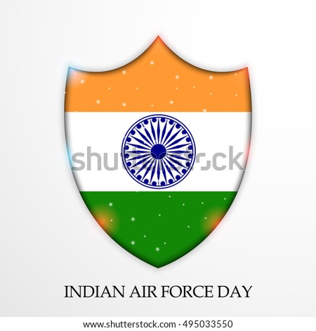 Vector Illustration Shield Indian Air Force Stock Vector Royalty