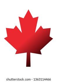 Vector illustration of the Shiny Canadian Maple Leaf Symbol