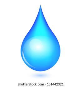 Vector illustration of shiny drop