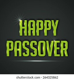 Vector illustration of shiny text for Happy Passover.