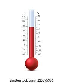 Vector illustration of shiny thermometer