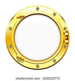 Vector illustration of ship window porthole.