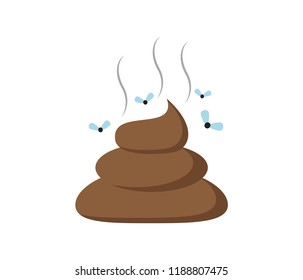Vector illustration of a shit icon or poop icon isolated on white background