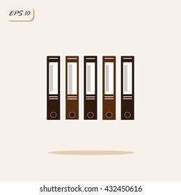Vector illustration showing folders for papers. Business. Sign and symbol
