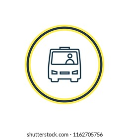 Vector illustration of shuttle icon line. Beautiful carrying element also can be used as bus icon element.