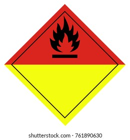 Vector illustration sign for burning or organic peroxides pictogram isolated on white background