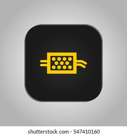Vector illustration of a sign on the car dashboard on a white background. The icon indicates a warning of the diesel particulate filter.