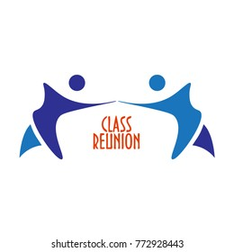 Vector illustration or sign template: Class Reunion. Great as invitation template for High School Class Reunion meeting party.
