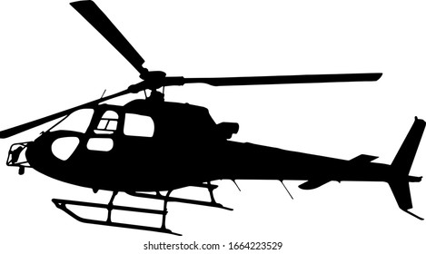 Vector illustration of silhouette helicopter