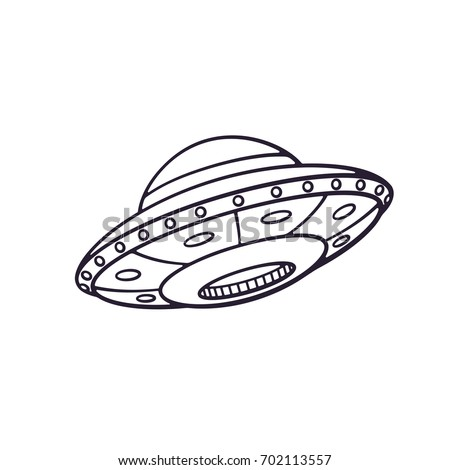 vector illustration silhouette toy ufo space stock vector royalty