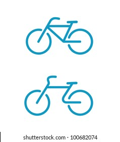 Vector illustration of Simple bicycle icons