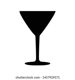 Vector illustration of a simple cocktail glass silhouette.