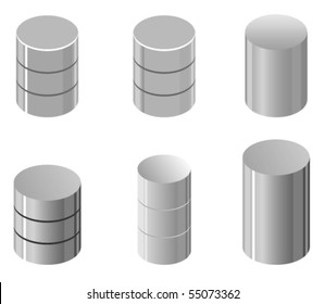 Vector illustration of simple database representation