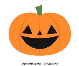 Vector illustration of a simple smiling pumpkin