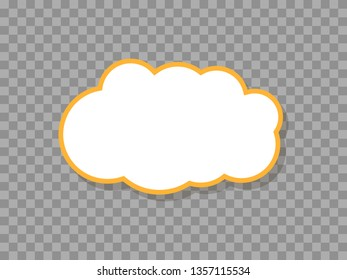 Vector illustration of simple speech cloud sticker