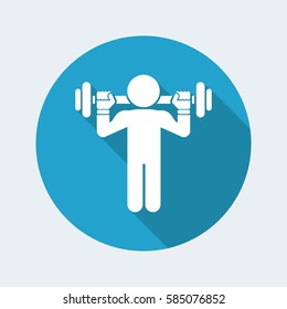 Vector illustration of single isolated vector gym icon