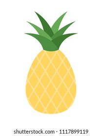 Vector illustration of a single pineapple