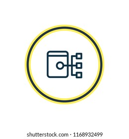 Vector illustration of sitemap icon line. Beautiful advertisement element also can be used as site structure icon element.