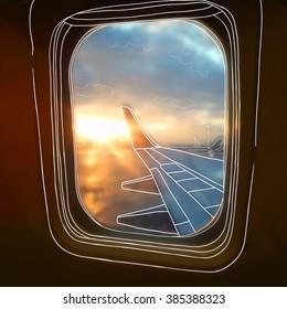 Airplane Window Drawing 库存矢量图 图片和艺术矢量图 Shutterstock