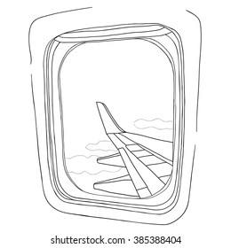 View Out Airplane Window Stock Vectors Images Vector Art
