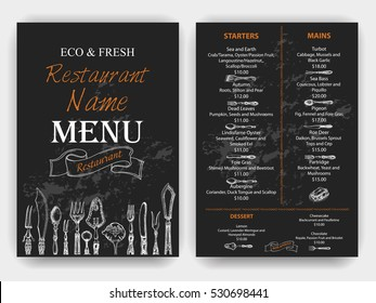Vector illustration sketch - Vintage Menu