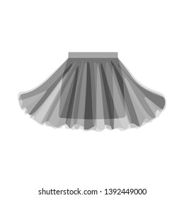 Vector illustration of skirt and girl logo. Set of skirt and pleated stock symbol for web.