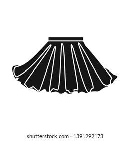 Vector illustration of skirt and girl symbol. Collection of skirt and pleated vector icon for stock.