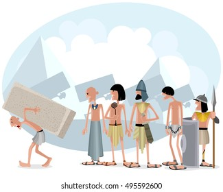 Vector illustration of a slaves and masters